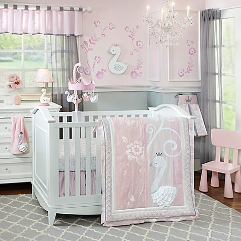 Lambs ivy swan lake crib bedding collection buybuy baby lambs ivyreg swan lake crib bedding collection negle Image collections