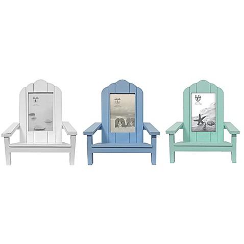 Elsa L Coastal 4 Inch X 6 Inch Adirondack Chair Picture