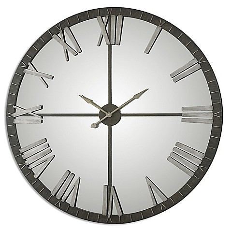 image of uttermost amelie large wall clock in bronze
