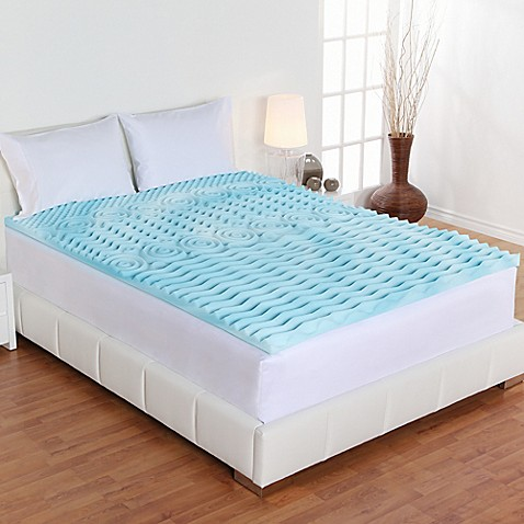 Image Of Authentic Comfort 2 Inch Rx 5 Zone Foam Mattress Topper