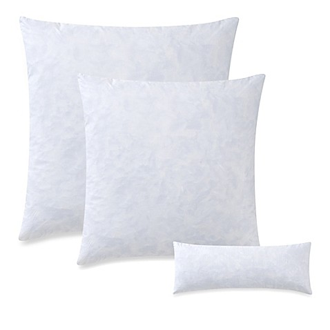 Pillow Inserts For Throw Pillows : Feather Throw Pillow Insert in White - Bed Bath & Beyond