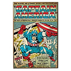 Captain America The First Marvel Comic Book Cover Wall Décor Plaque