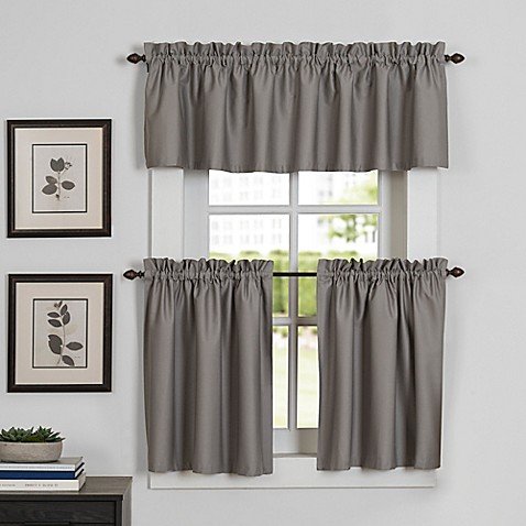 Newport kitchen window curtain tier and valance bed bath for Kitchen window curtains