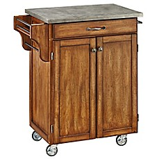 image of Home Styles Cuisine Cart with Concrete Top