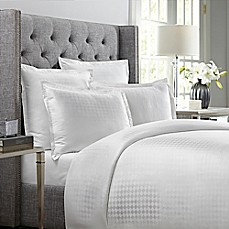 image of Wamsutta® 620-Thread-Count Basket Weave Duvet Cover in White