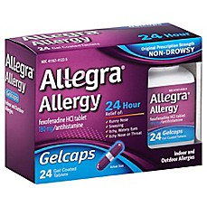 image of Allegra® Allergy 24-Count 24 Hour Gelcaps