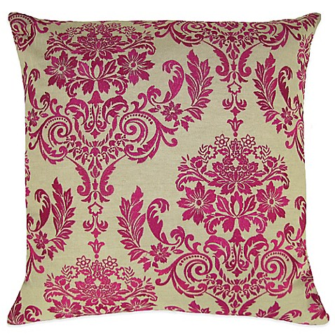 Throw Pillow In French : French Damask Embroidered Square Throw Pillow - Bed Bath & Beyond