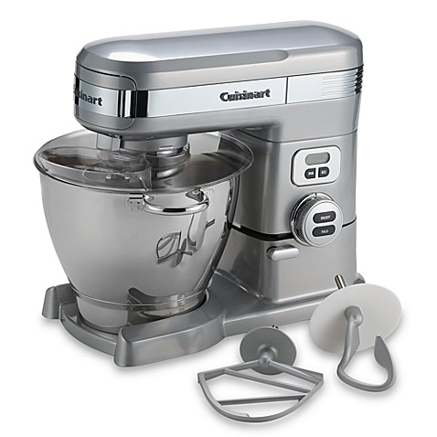 cuisinart® 5.5-quart stand mixer in brushed chrome - bed bath & beyond