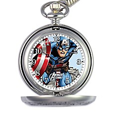 image of Marvel Men's 51mm Captain America Pocket Watch in Silver