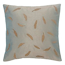 image of BiniChic® Foscari Embroidered Leaves Square Throw Pillow