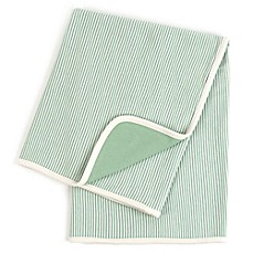 image of Tadpoles™ by Sleeping Partners Pinstripe Organic Cotton Receiving Blanket in Sage