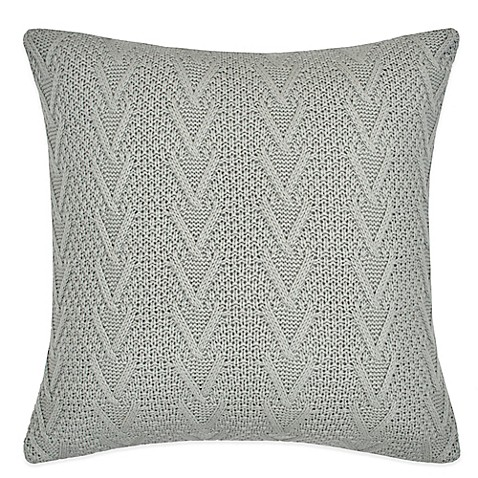 Buy Flatiron Home Cable Knit Square Throw Pillow in Light Grey from Bed Bath & Beyond