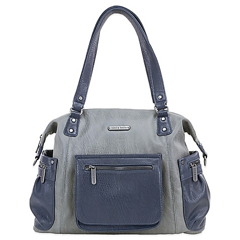 timi & leslie® Abby 7-Piece Diaper Bag Set in Grey/Navy