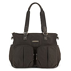 image of timi & leslie® Jet Setter Tote Diaper Bag in Soho Black