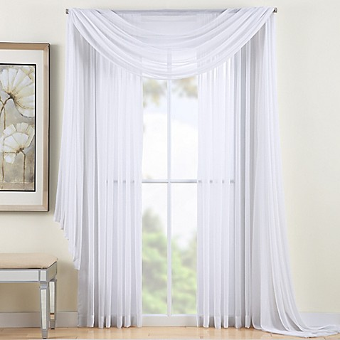 buy reverie 120 inch sheer window curtain panel in white