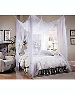 Dosel grande para cama de poliéster Majesty® color blanco