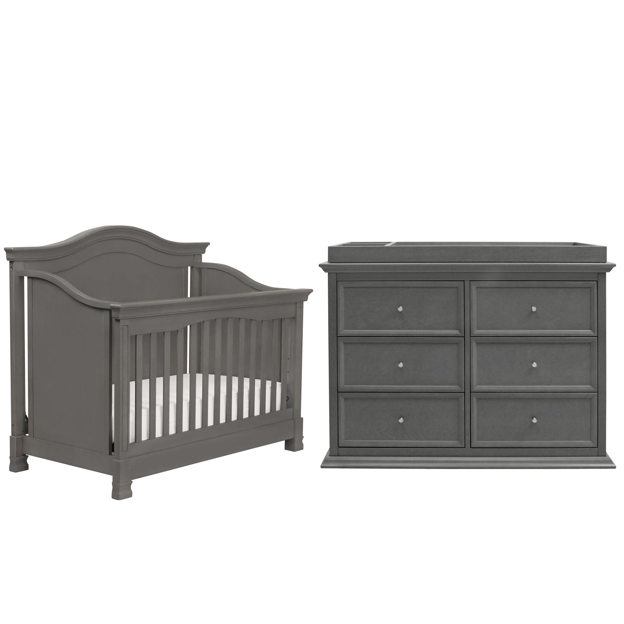 Million Dollar Baby Classic 3-Piece Louis Nursery Bundle Set in Manor Grey