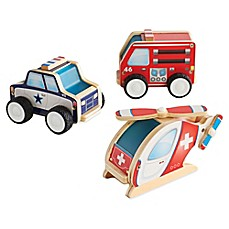 image of Guidecraft 3-Pack Jr. Plywood Community Vehicles