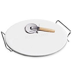 image of Sharper Image® Pizza Stone and Pizza Cutter Set