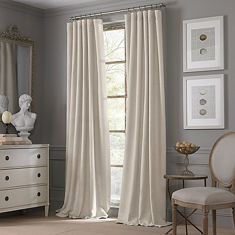 Buy Valeron Estate Cotton Linen 120 Inch Window Curtain Panel In Flax From Bed Bath Beyond