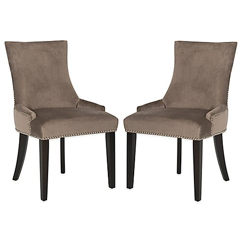 buy safavieh lester dining chairs in mushroom set of 2
