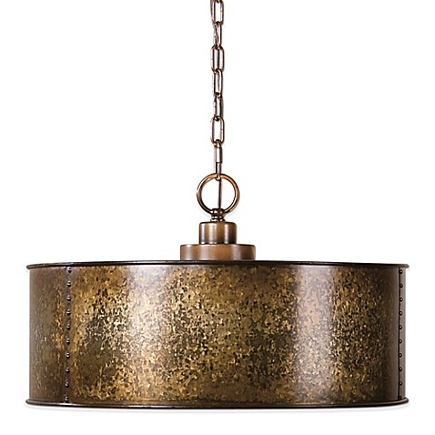 buy uttermost wolcott 3 light pendant lamp from bed bath. Black Bedroom Furniture Sets. Home Design Ideas
