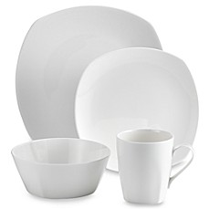 image of Tabletops Unlimited® Quattro Bone China 16-Piece Dinnerware Set