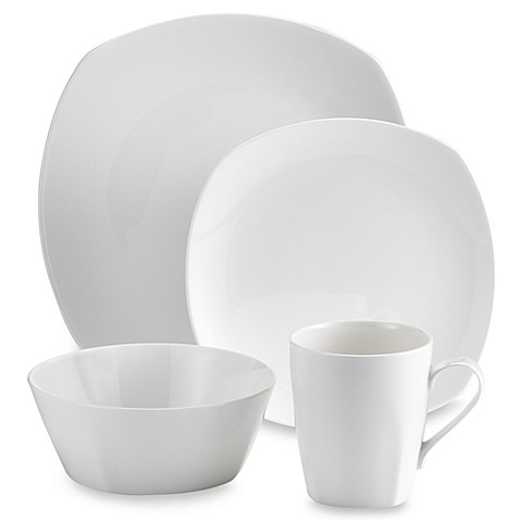 Tabletops Unlimitedu0026reg; Quattro Bone China 16 Piece Dinnerware Set