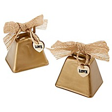 image of Kate Aspen® Country Cowbell Kissing Bell (Set of 6)