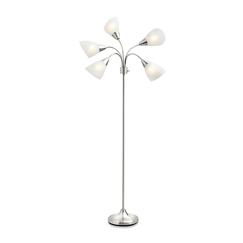 light floor lamp contemporary and sleek this studio 3b 5 light floor