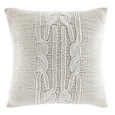 image of Nautica® Seaward Square Throw Pillow in Ivory