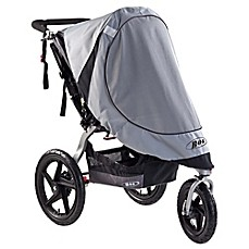 image of BOB® Revolution® and Stroller Strides® Single Stroller Sun Shield in Grey
