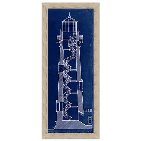Blueprint lighthouse section 2 framed wall art bed bath beyond blueprint lighthouse section 2 framed wall art malvernweather Image collections