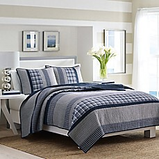 image of Nautica® Adelson Quilt Standard Pillow Sham in Navy