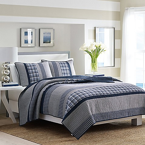 Nautica Adelson Quilt In Navy Bed Bath Beyond