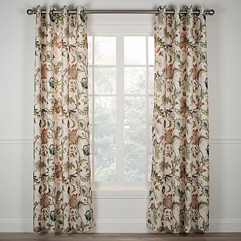 Buy Brissac 63 Inch Grommet Window Curtain Panel In Red