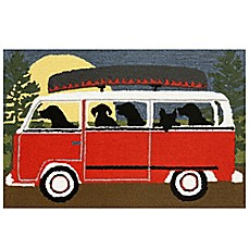 image of Trans-Ocean Camping Trip Accent Rug in Red