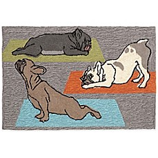 image of Trans-Ocean Yoga Dogs Accent Rug
