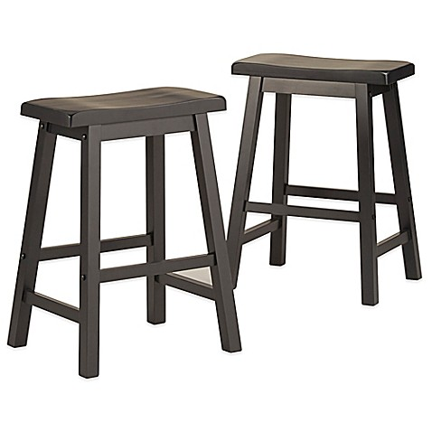 Buy Verona Home Calera Saddle Counter Stools In Midnight