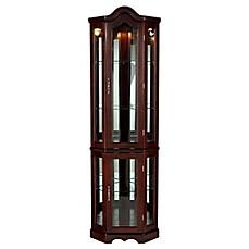 Southern Enterprises Lighted Corner Curio Cabinet