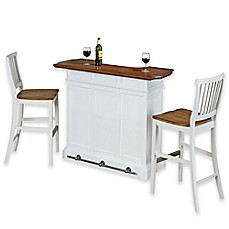 Image Of Home Styles Americana Bar With Two Barstools