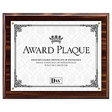 image of DAX® 8.5-Inch x 11-Inch Award Plaque Frame in Walnut