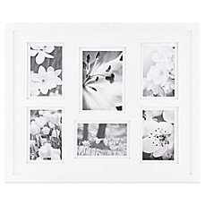 image of real simple 6 photo collage frame in white