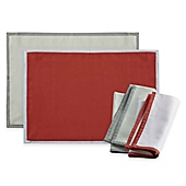 image of Wamsutta® Bordered Linen Placemat and Napkins