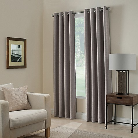Paradise 108-Inch Room Darkening Grommet Top Window Curtain Panel in Stone