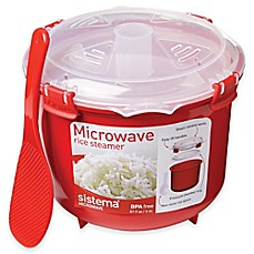 image of Sistema® 2.6-Liter Microwave Rice Steamer