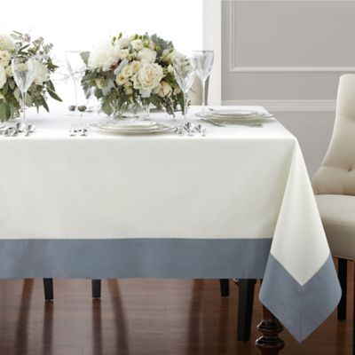 Wamsutta® Bordered Linen Tablecloth - Bed Bath & Beyond