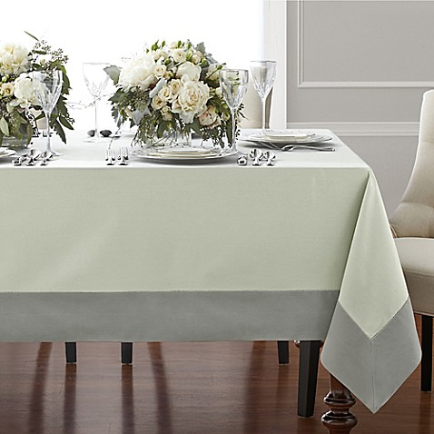 Buy wamsutta bordered linen 70 inch square tablecloth in for Where can i buy table linens