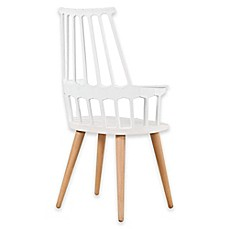 image of Design Guild Modern Armchair with Wood Legs
