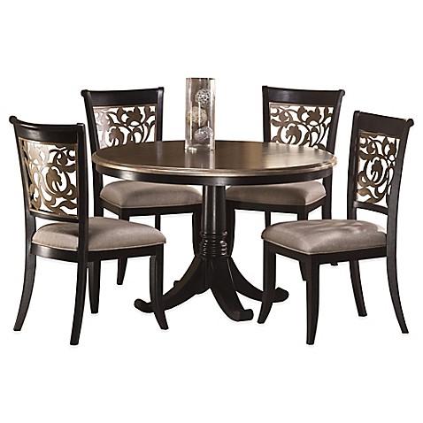 hillsdale bennington 5 piece dining set in black